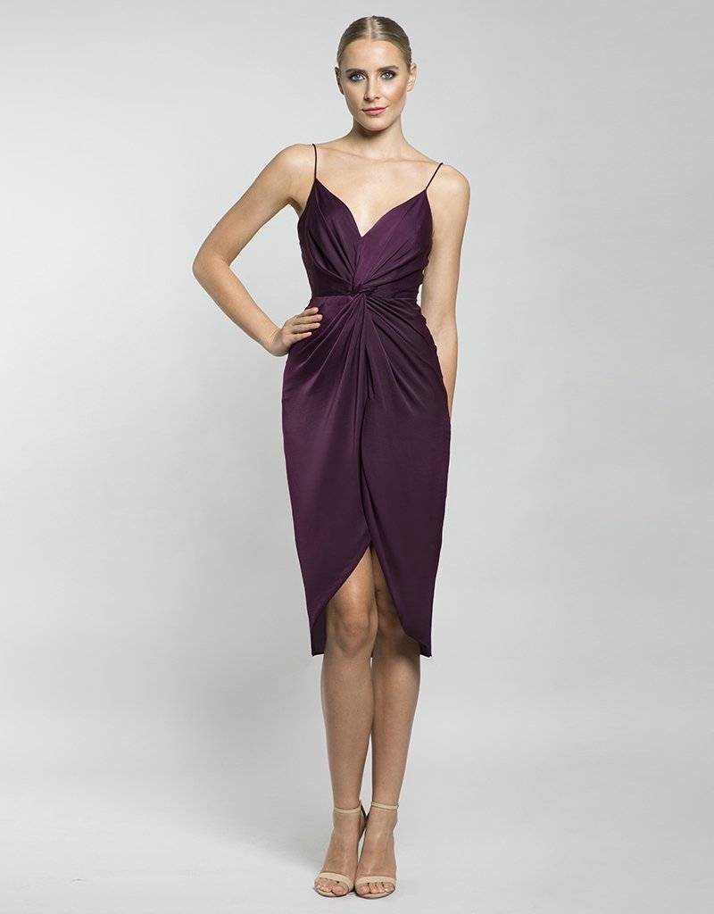 LUMIER by BARIANO JUPITER KNOT MIDI DRESS