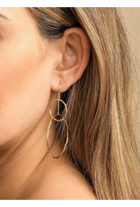 GORJANA INTERLOCKING CIRCLE DROP EARRINGS