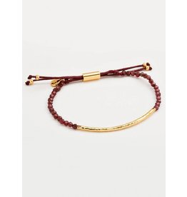 GORJANA POWER GEMSTONE BRACELET ENERGY/GARNET