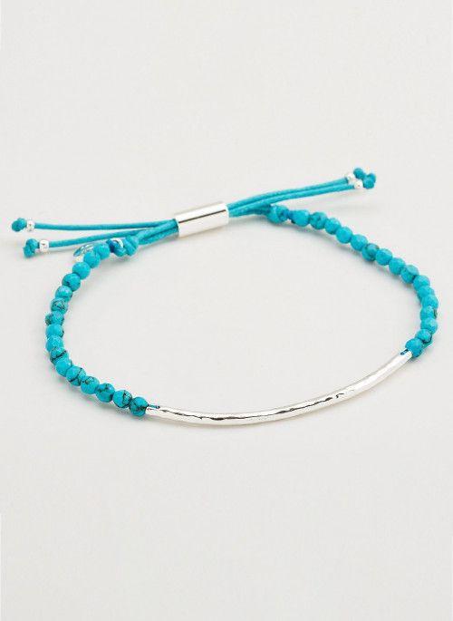 Gorjana Power Gemstone Turquoise Bracelet for Healing, Silver