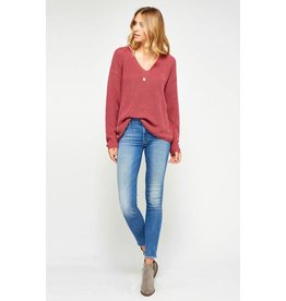 GENTLE FAWN TUCKER V NECK SWEATER