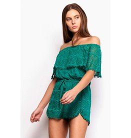 JACK BY BB DAKOTA LAREDO OFF SHOULDER ROMPER