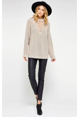 GENTLE FAWN INGRID LACE UP SWEATER