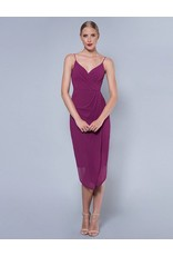 LUMIER by BARIANO AMARANTH TUCK BODICE DRESS