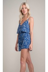 GREYLIN MELODY PRINTED FLORAL ROMPER