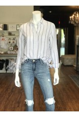 BEACH LUNCH LOUNGE ELYSE FRINGE BUTTON DOWN