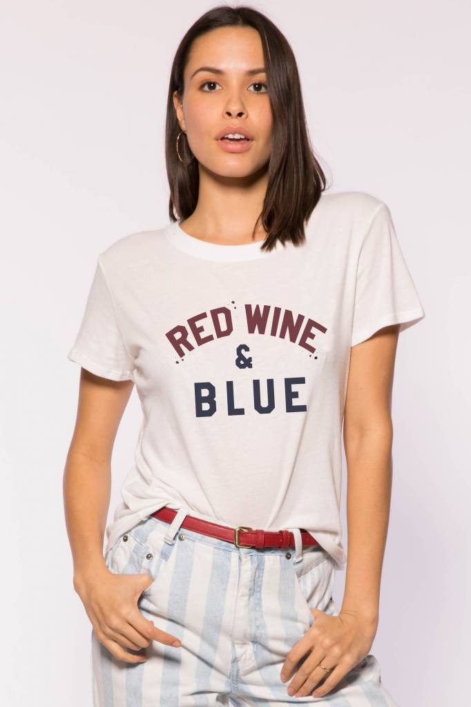 SUBURBAN RIOT RED, WINE AND BLUE LOOSE TEE