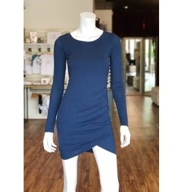 BOBI L/S RUCHED DRESS