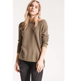 RAG POETS PASTENA SIDE LACE UP SWEATER