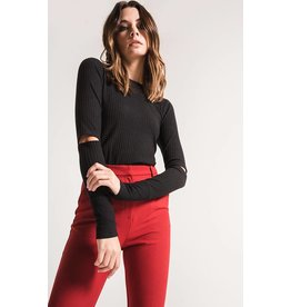BLACK SWAN HAYLIE RIBBED KNIT TOP