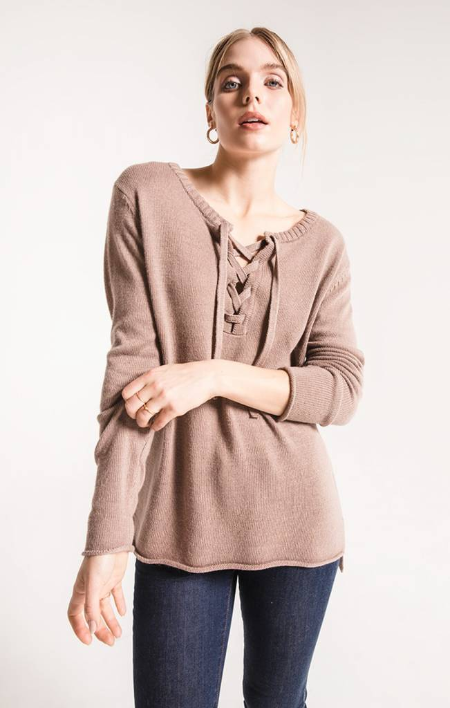 RAG POETS BASIL LACE UP SWEATER