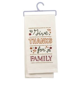 Primitives by Kathy GIVE THANKS TOWEL