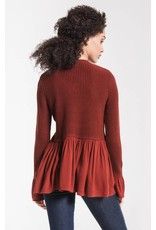 Rag Poets Vesta Knitted Peplum Sweater