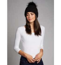 CEST MOI Knit Hat w/Fur Pom 320