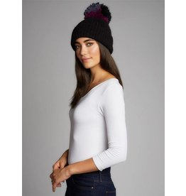 CEST MOI KNIT HAT W/MULTI YARN POM