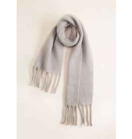 Look by M CHUNKY FRINGE SOLID SCARF