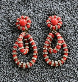 Jewelry FMontague: Lolita Coral Loops w/Crystal Details