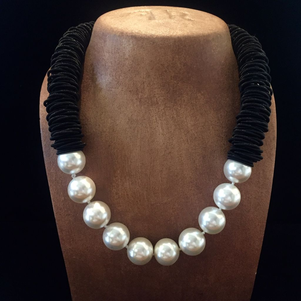 Jewelry VCExclusives: Black Caterpillar w/Pearls