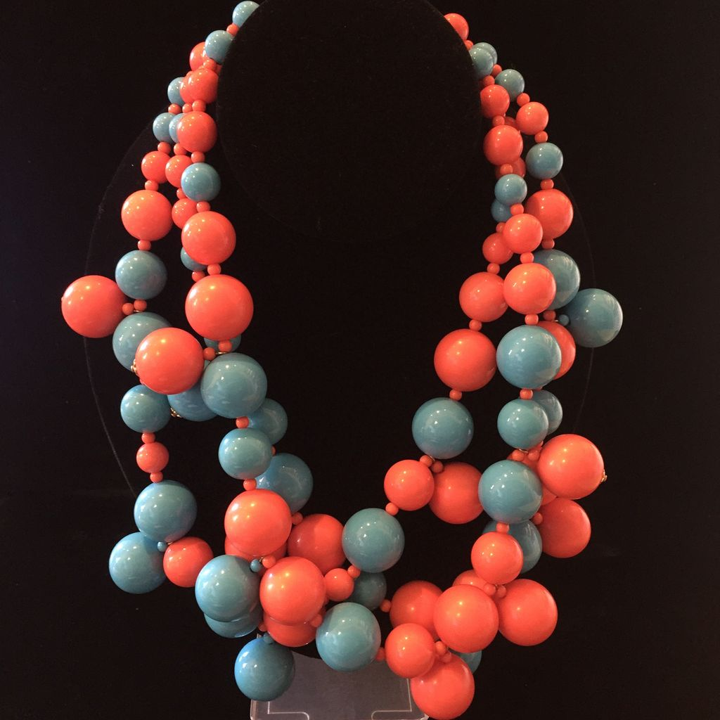 Jewelry KJLane: Clusters Turquoise & Coral