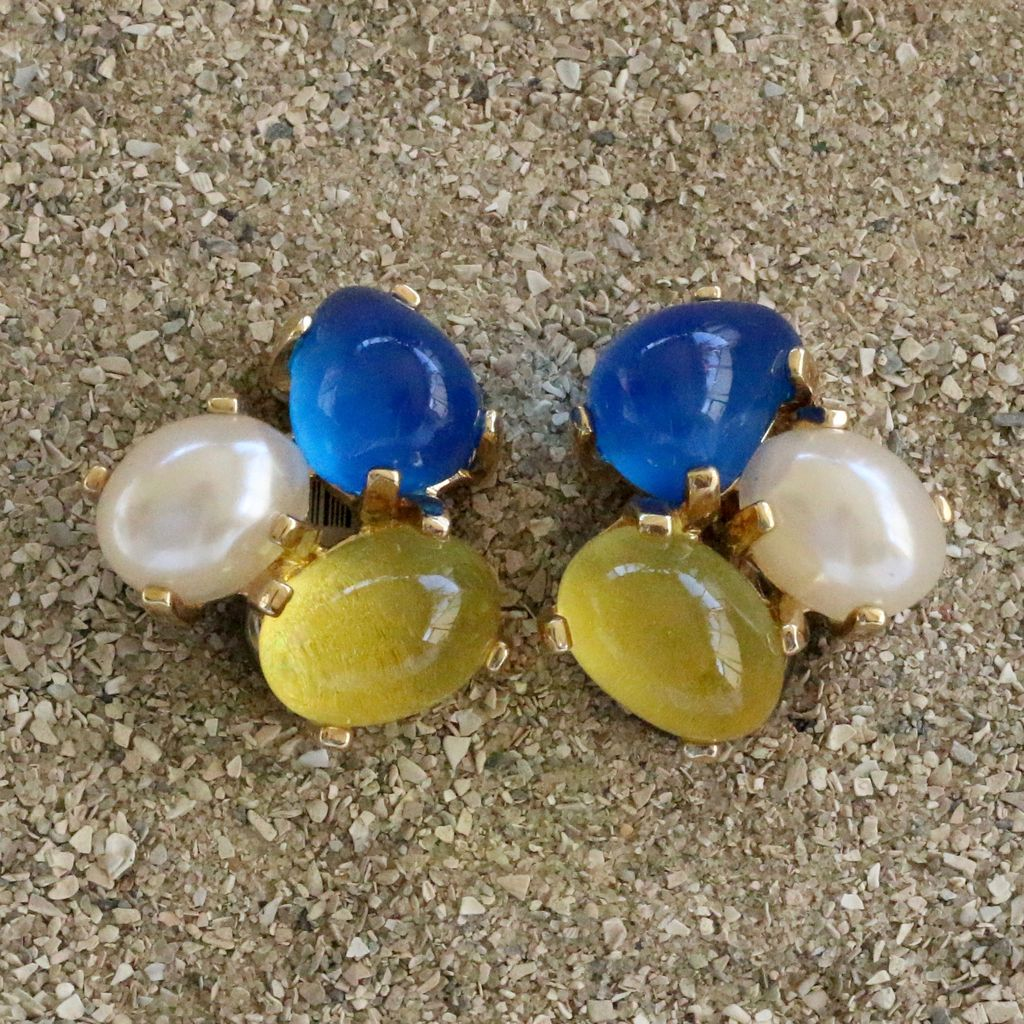 Jewelry VCExclusives: Tri Colored Drops Ocean Pearl Yellow