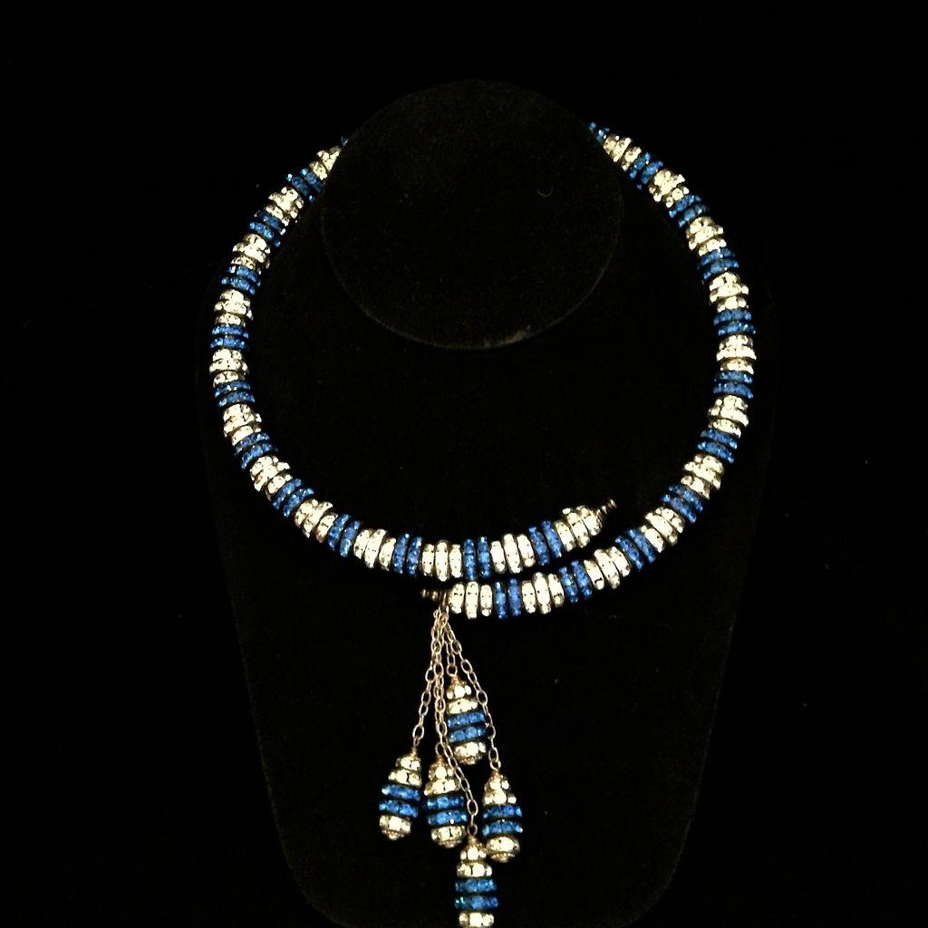 Jewelry FMontague: Yasmin Wrap in Cobalt & Silver