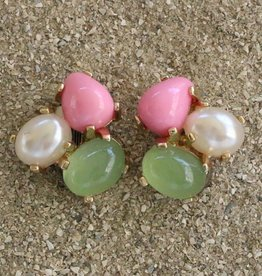 Jewelry VCExclusives: Tri Colored Drops in Pink & Green