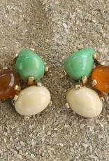 Jewelry VCExclusives: Tri Colored Drops Ecru Amber Cream