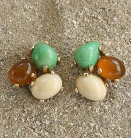 Jewelry VCExclusives: Tri Colored Drops Ecru Amber Cream