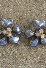 Jewelry KJLane: Flower Gray Pearl
