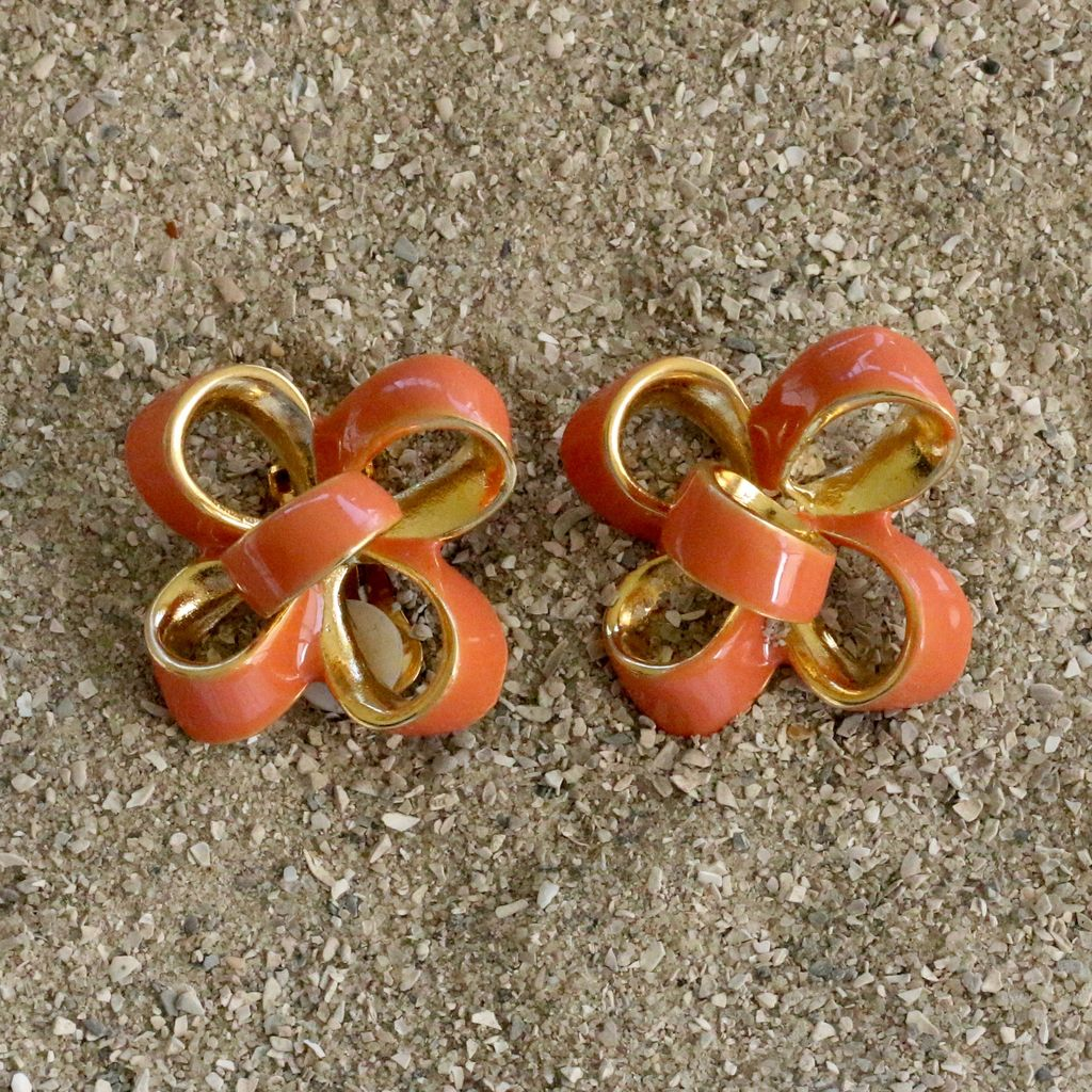 Jewelry KJLane: Coral Candy Bow