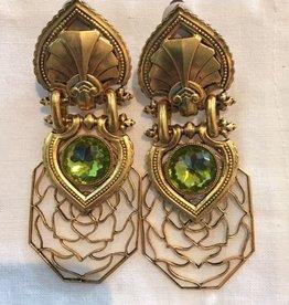 Jewelry Blinn: Lattice Gold w/Moss Inset