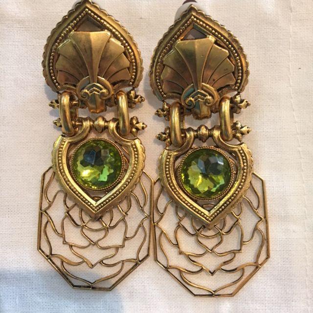 Jewelry Blinn: Gold Lattice w/Moss Inset