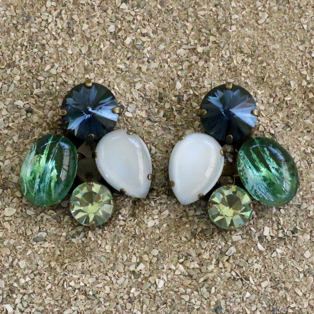 Jewelry Blinn: Four Stone Oval Moss
