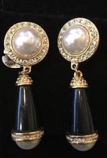 Jewelry KJLane: Pearl & Jet Evening Droplets