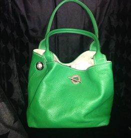 Handbags Valentina: Lime Handbag