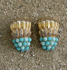 Jewelry VCExclusives: Gold Cascades w/Blue Shade Clusters