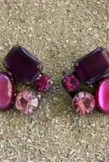 Jewelry BLINN: four Stone Pomegranate & Wine