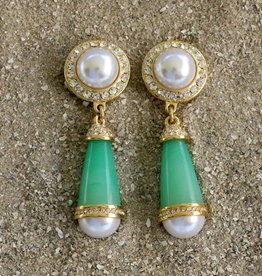 Jewelry KJLane: Pearl & Mint Evening Droplets