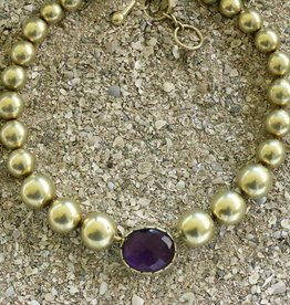 Jewelry Vaubel: Eggplant Bezel w/Vermeil Orbs