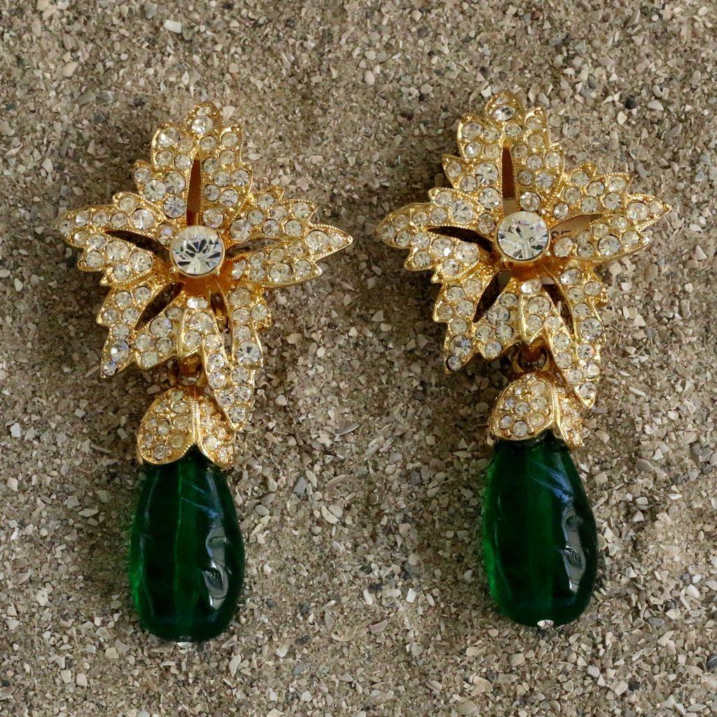 Jewelry KJLane: Starbursts Jade Drop