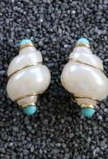 Jewelry VCExclusives: Conch Shell w/Turquoise and Gold