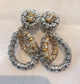 Jewelry FMontague: Lolita Silver Loops w/Gold Accents