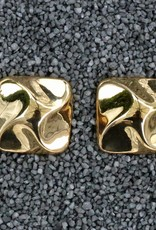 Jewelry Square Button Polished Gold
