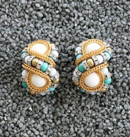 Jewelry Fmontague: Huit Turquoise & Pearl Infinity Orbs