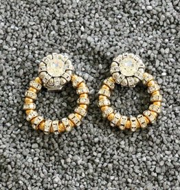 Jewelry FMontague: Joyce Loops w/Gold & Silver Crystal Details