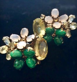Jewelry IRADJ: Green Star Clusters w/Tan Frosting