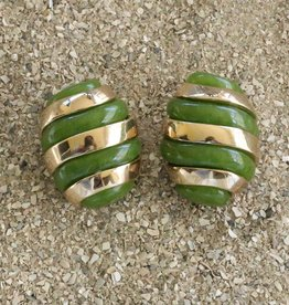 Jewelry VCExcluisives: Banded Egg / Green  and Gold
