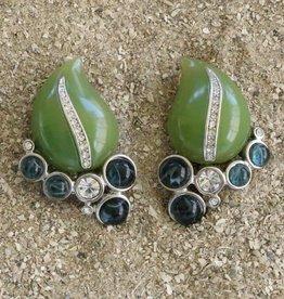 Jewelry KJLane: Jade & Moss Teardrops