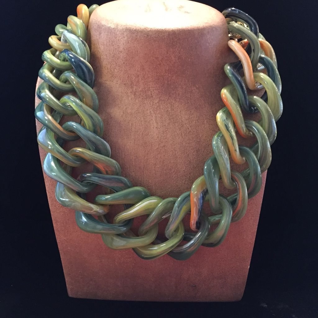 Jewelry VCExclusives: Green Marble Links