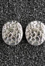 Jewelry Sebbag: Silver Oval Pebble